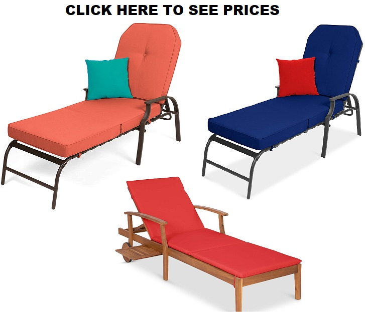 Best Choice Products Adjustable Outdoor Chaise Lounge Chair Furniture For Patio